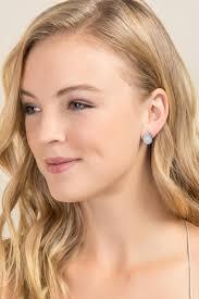 rihanna earrings rihanna druzy teardrop stud earrings in iridescent s