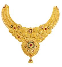 image gold necklace images Gold necklace with cz peacock pendant jewellery designs latest jpg