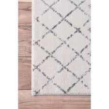 Grey Runner Rug The Curated Nomad Ashbury Moroccan Grey Runner Rug 2 8 X 12