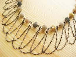 make chain necklace images Draped chain necklace how did you make this luxe diy jpg