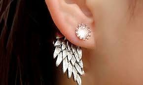 angel wing earrings angel wing stud earrings groupon goods