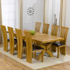 Oak Extending Dining Table And 8 Chairs Avignon Solid Oak Extending Dining Table And 8 Arizona