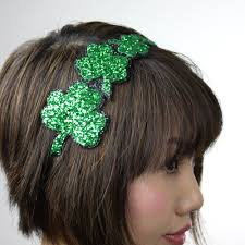 glitter headbands st patricks headband shamrocks in emerald green glitter