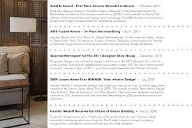 Certificate Of Interior Design by Recognition Denver Interior Designer Dragonfly Designs