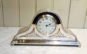 Mantle Piece Clock Edwardian Silver Plated Napoleon Hat Mantel Clock At 1stdibs