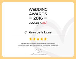 www mariages net certificat wedding awards 2016 from mariage net château de la ligne