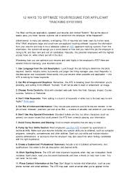 Check Your Resume 12 Ways To Optimize Your Resume For Applicant Tracking Systems