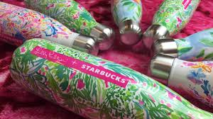 starbucks lilly pulitzer swell lilly pulitzer starbucks s well water bottle collab youtube