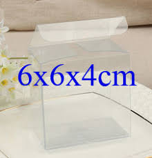 candy apple supplies wholesale wholesale100pcs 1lot clear pvc box packing wedding christmas favor