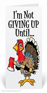 humorous turkey thanksgiving cards for customers tg303