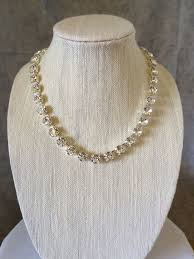 10mm diamond diamond cut bridal necklace 10mm choker or princess