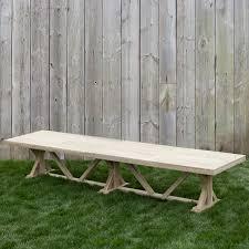 40 X 40 Dining Table Protected Teak Trestle Dining Table 14 U0027 Terrain