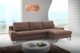 canapé d angle droit ou gauche canapé d angle design en tissu marron haute densité