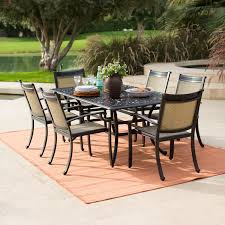Aluminum Patio Dining Set Belham Living San Miguel Cast Aluminum Patio Dining Set With Sling
