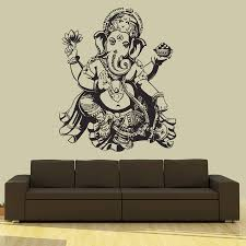 compare prices on ganesh sticker online shopping buy low price buddha dance indian hinduism wall sticker home decor wall decal elephant ganesh buddhism india namaste lotus