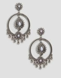 grunge earrings new look new look grunge hoop earrings
