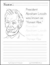 lincoln coloring pages honest abe coloring page for kids student handouts