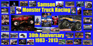 monster truck racing schedule samson monster truck hall of fame news monstertrucks mattel