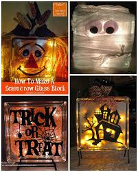 fall halloween glass block crafts glass block crafts block
