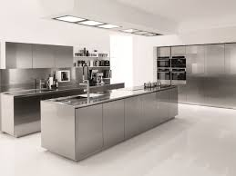 Stainless Steel Kitchen FILOFREE STEEL By Euromobil Design Roberto - Stainless steel kitchen table top