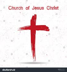 church jesus christ logo cross painted stock vector 380172022