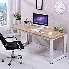 desktop computer desk amazon com chefjoy computer desk pc laptop table wood work