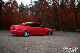 slammed audi a6 audi a6 c6 is a red rooster on vossen rims photo gallery 1 jpg