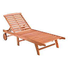 Patio Chaise Lounge Shop Vifah Eucalyptus Patio Chaise Lounge At Lowes Com