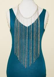 silver tassel long necklace images Super long trendy tassel fringe necklace jpg