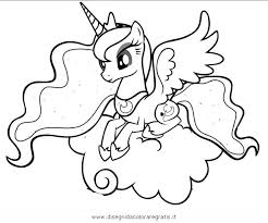 pony coloring pages luna