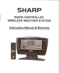 sharp weather station spc502 instructions manual