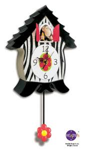 Design Clock by Headsup Design Orangucoo Clock Cuckoo Type Clock Monkey