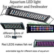 Aquarium Led Lighting Fixtures 36 48 Hi Lumen Led Freshwater Plant Saltwater Marine Aquarium