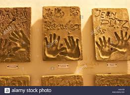 imprints of hands of stars at hotel palacio in ibiza town dalt