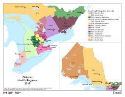 Map Of Ontario 8 Ontario Local Health Integration Networks Lhin 2015