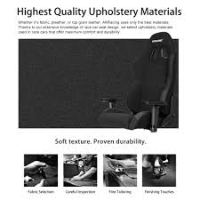 Realspace Warranty by Akracing K7 Fabric High Back Gaming Chair Black By Office Depot