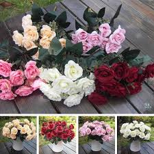 wholesale artificial flowers wholesale artificial false silk flowers 15 flower leaf