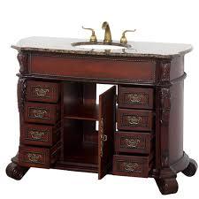48 Inch Bathroom Vanities by Rutherford 48 Inch Bathroom Vanity Dark Wood Finish