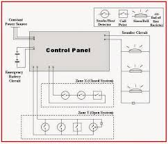 electrical engineering world a wiring diagram for a simple fire