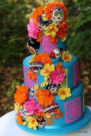 day of the dead wedding cake images of day the dead wedding cakes the best cake of 2018