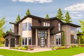 plan 85123ms angled entry 5 bed modern house plan modern house