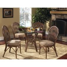 Wicker  Rattan Kitchen  Dining Tables Youll Love Wayfair - Rattan dining room set