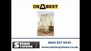drabest wooden loft ladder kit dtll01 youtube