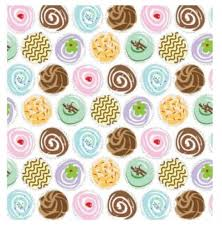 wrapping paper sheets cup cake print patterned tissue wrapping paper large sheets 50cm x