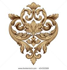 vintage baroque ornament retro pattern antique stock vector