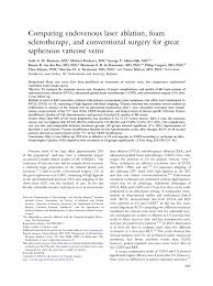 Guidewire Resume Comparing Endovenous Laser Ablation Foam Sclerotherapy And