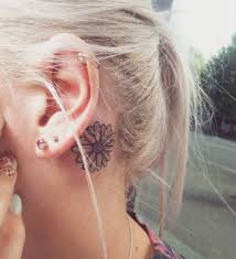 the best small tattoo ideas behind ear tadashitattoo