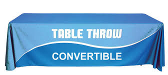Trade Show Table Runner Convertible Table Throws Dye Sub Custom Table Covers Table