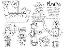 free paper bag puppet pirate print outs paper puppets pirate