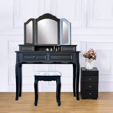 Wood Vanity Table Solid Wood Makeup Vanities You Ll Wayfair